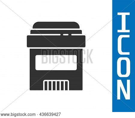 Grey Antiperspirant Deodorant Roll Icon Isolated On White Background. Cosmetic For Body Hygiene. Vec