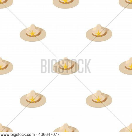 Sheriff Hat Pattern Seamless Background Texture Repeat Wallpaper Geometric Vector