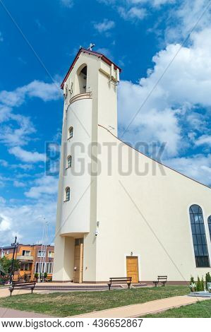 Chlapowo, Poland - July 21, 2021: Church Of Divine Mercy.