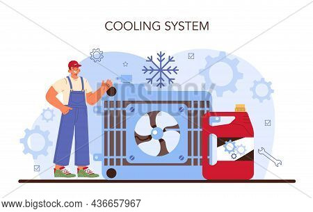 Car Repair Service. Automobile Cooling System Got Fixed