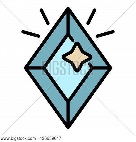 Rich Jewel Icon. Outline Rich Jewel Vector Icon Color Flat Isolated