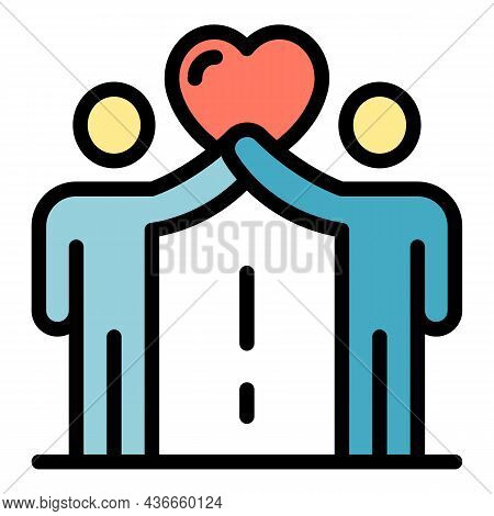 Support Friendship Icon. Outline Support Friendship Vector Icon Color Flat Isolated
