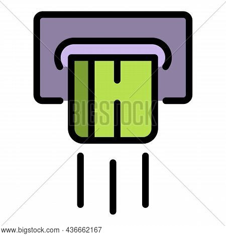 Cashback Money Icon. Outline Cashback Money Vector Icon Color Flat Isolated