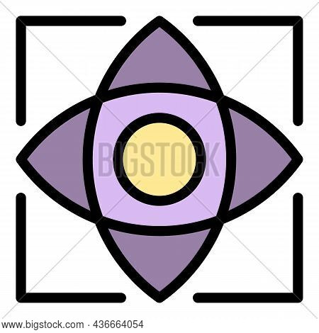 Computer Eye Scanning Icon. Outline Computer Eye Scanning Vector Icon Color Flat Isolated