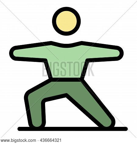 Gym Exercise Icon. Outline Gym Exercise Vector Icon Color Flat Isolated