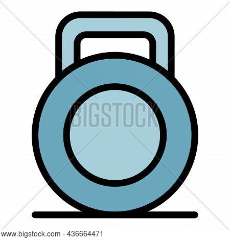 Kettlebell Icon. Outline Kettlebell Vector Icon Color Flat Isolated
