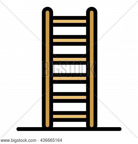 Gymnastic Ladder Icon. Outline Gymnastic Ladder Vector Icon Color Flat Isolated