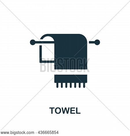 Towel Icon. Monochrome Sign From Bathroom Collection. Creative Towel Icon Illustration For Web Desig