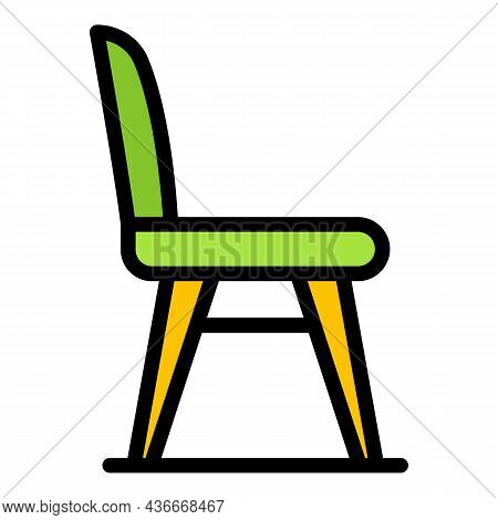 Classic Chair Icon. Outline Classic Chair Vector Icon Color Flat Isolated