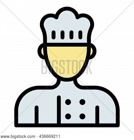 Cooking Chef Icon. Outline Cooking Chef Vector Icon Color Flat Isolated