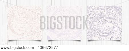 Purple Beige Abstract Liquid Background. Acrylic Fluid Art. Vector Marble Texture. Modern Cover Desi