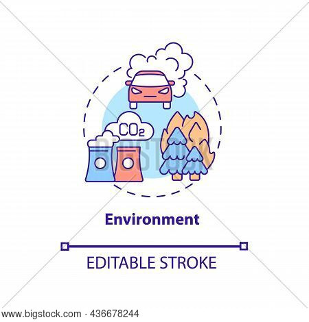 Environment Concept Icon. Adhd Cause Abstract Idea Thin Line Illustration. Exposure To Toxic Chemica