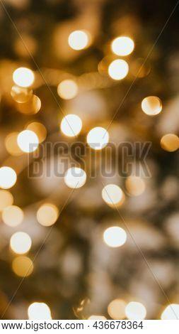 Blurry warm Christmas bokeh light mobile wallpaper