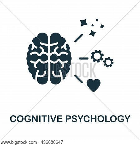 Cognitive Psychology Icon. Monochrome Sign From Cognitive Skills Collection. Creative Cognitive Psyc