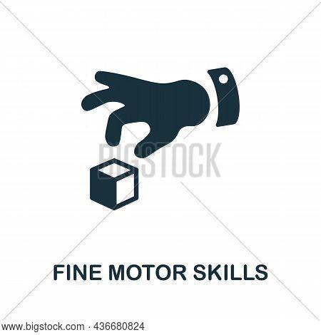 Fine Motor Skills Icon. Monochrome Sign From Cognitive Skills Collection. Creative Fine Motor Skills