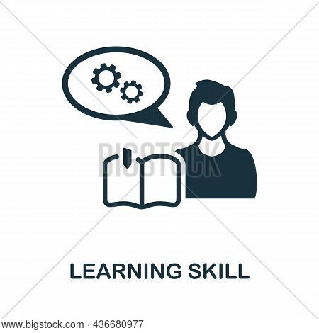 Learning Skill Icon. Monochrome Sign From Cognitive Skills Collection. Creative Learning Skill Icon