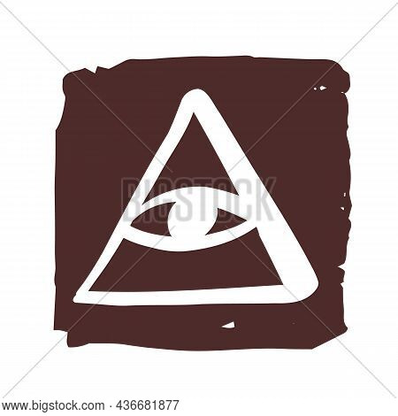 All-seeing Eye. A Magical And Esoteric Sign, A Religious Sign Of The Freemasons, A Symbol Of Hidden