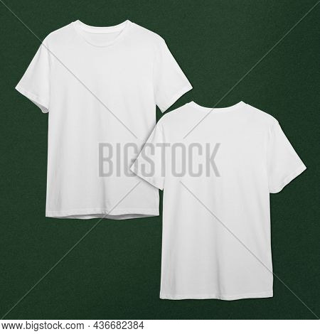 Men and rsquo's white t-shirt apparel with design space