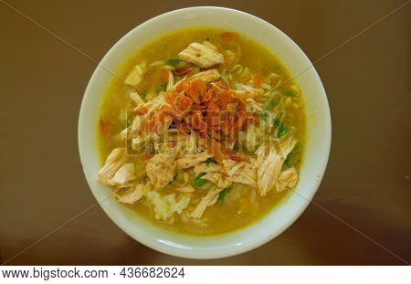 Soto Ayam - Indonesian Traditional Food Made From Vegetables And Chicken, Soto Is A Traditional Food