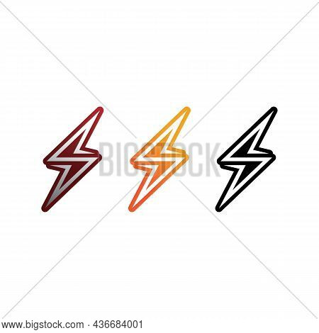 The Power Vector, Flash Ogo And Thunderbolt And Icon Electricity Illustration Template Design