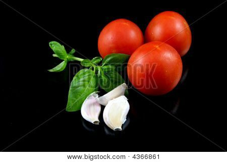 Tomato, Basil, Garlic