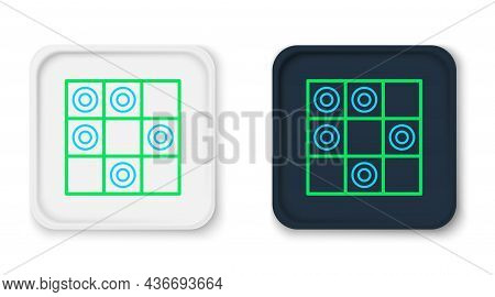 Line Board Game Of Checkers Icon Isolated On White Background. Ancient Intellectual Board Game. Ches