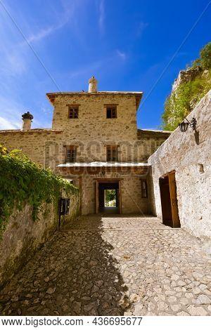 Blagaj dervish house - Bosnia and Herzegovina - architecture travel background