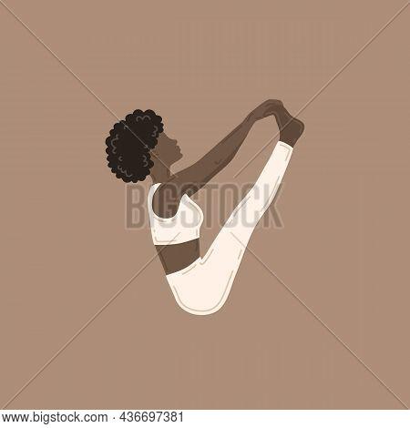 Ubhaya Padangusthasana, Both Big Toes Pose. Young Slim Woman Doing Yoga Exercise