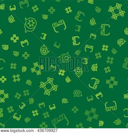 Set Line Hexagram Sheriff, Prison Window And Safety Goggle Glasses On Seamless Pattern. Vector