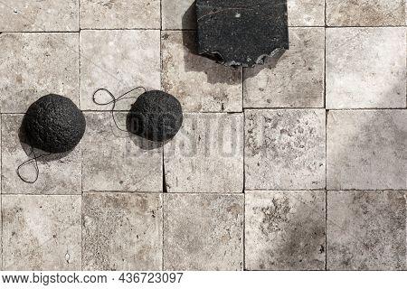 Bamboo Charcoal Bathroom Accessories - Konjac Bamboo Charcoal Black Sponges And Handmade Black Charc