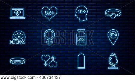 Set Line Anal Plug, Location With 18 Plus, Head, Female Gender Symbol, Film Reel Sex, Laptop Content