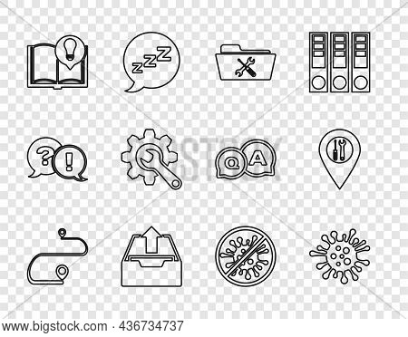 Set Line Route Location, Bacteria, Folder Service, Upload Inbox, Interesting Facts, Wrench And Gear,