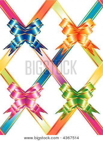 Background With Multicolored Ribbons