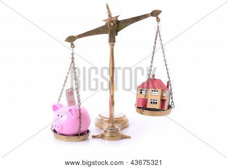 Piggy Bank House Scales
