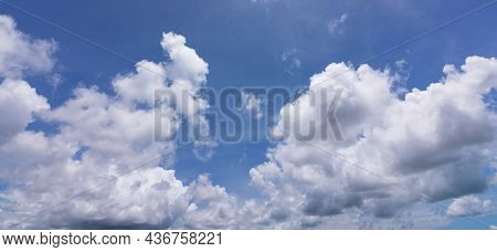 Blue Sky Background With Clouds Natural Daylight And White Clouds Floating On Blue Sky Clear Sky Nat