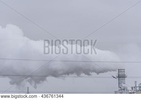 Steam Coming Out Of Power Station Chimney - Power Generation