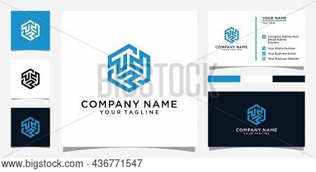 T Or Tt Letter Logo Design Template Vector With Business Card Design.