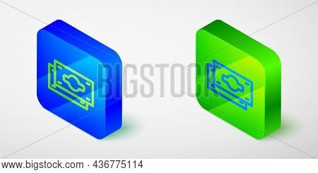 Isometric Line Stacks Paper Money Cash Icon Isolated Grey Background. Money Banknotes Stacks. Bill C