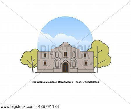The Alamo Mission Originally Known As The Mision San Antonio De Valero, San Antonio, Texas, United S