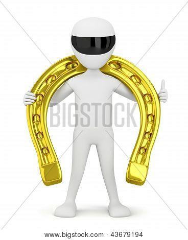 Golden Horseshoe For Luck.
