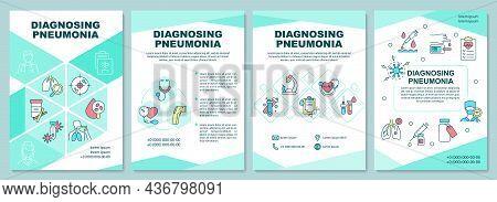 Diagnosing Pneumonia Brochure Template. Diagnostic Procedures. Flyer, Booklet, Leaflet Print, Cover