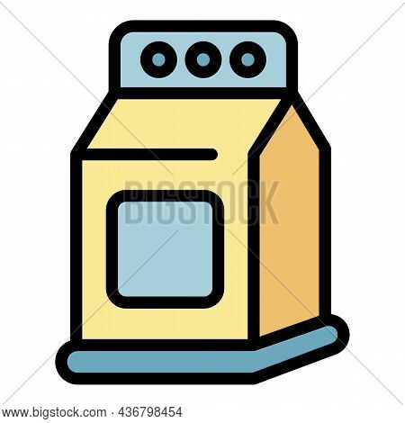 Detergent Package Icon. Outline Detergent Package Vector Icon Color Flat Isolated