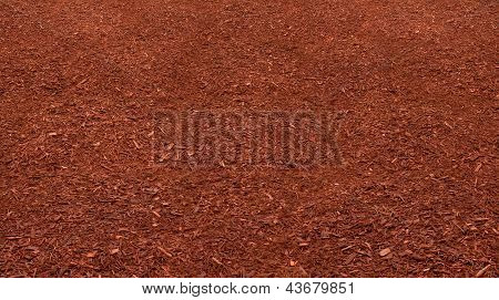 Red Mulch Bed
