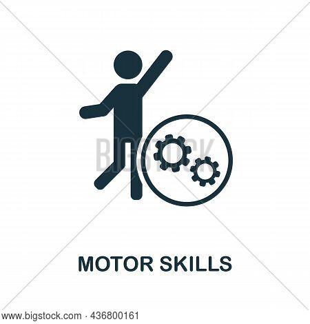 Motor Skills Icon. Monochrome Sign From Creative Learning Collection. Creative Motor Skills Icon Ill