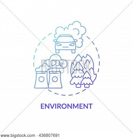 Environment Concept Icon. Adhd Cause Abstract Idea Thin Line Illustration. Toxins Impact On Brain De