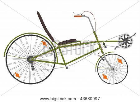 Short recumbent bike.