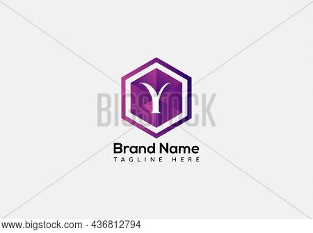 Abstract Y Letter Modern Initial Lettermarks Logo Design