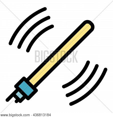 Scan Stick Icon. Outline Scan Stick Vector Icon Color Flat Isolated