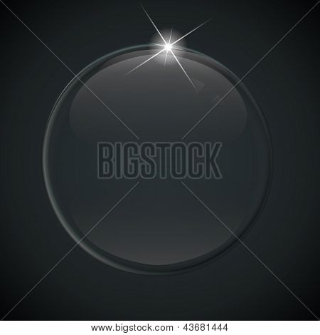 black soap bubble on black background. This is file of EPS10 format. poster