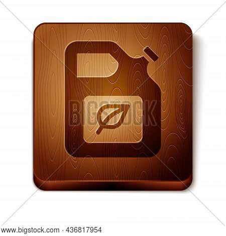 Brown Bio Fuel Canister Icon Isolated On White Background. Eco Bio And Barrel. Green Environment And